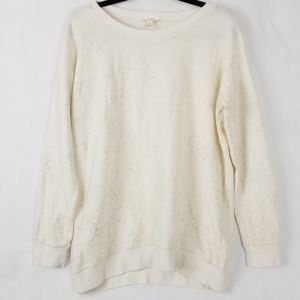 Soft Joie Cream/Gold Speckled Pop Over Sweater